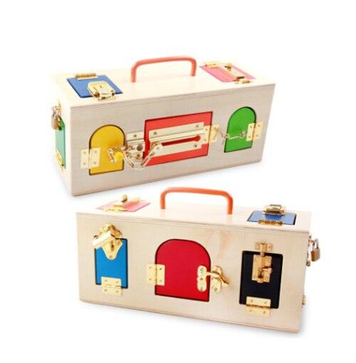 Montessori en bois début éducation puzzle bébé début débloquer jouets maternelle Intelligence enseignement outil