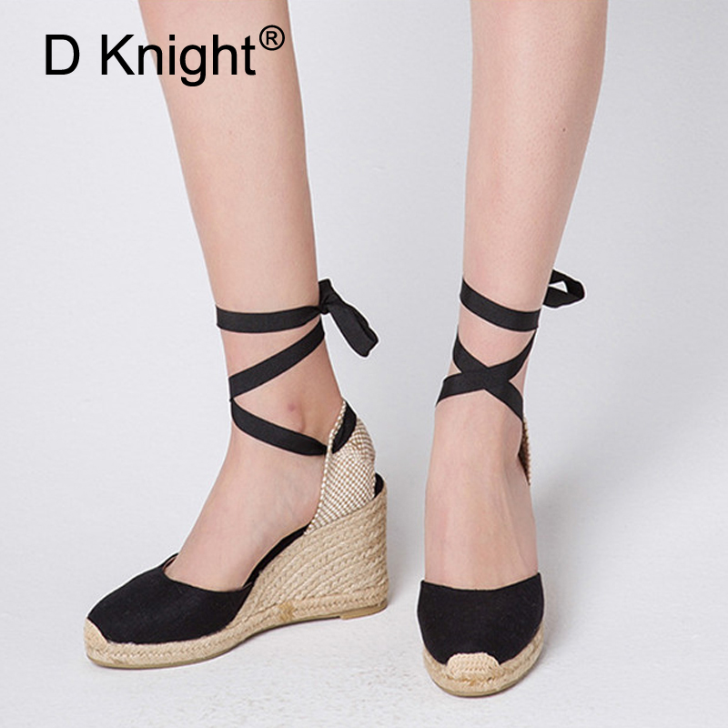 White Wedges Shoes For Women Sandals Plus Size High Heels -4035