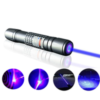 10000mW Powerful Blue Laser Pointer Aluminum alloy Lasers Bore Sighter Sky Star Batteries + Charger + Box
