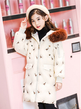 hot deal buy girls clothing warm down jacket style for teenagers winter thicken parka real fur hooded children outerwear coats -30 degrees