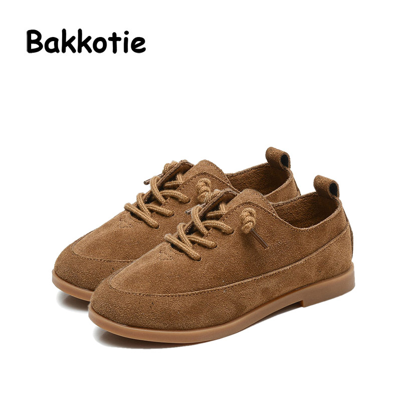Bakkotie 2017 New Autumn Baby Boy Casual Shoes Khaki Genuine Leather Black Kid Girl Brand Flat Shoes Soft Sole Breathable Child 2017 summer new style baby girl boy first walkers breathable mesh soft sole hook
