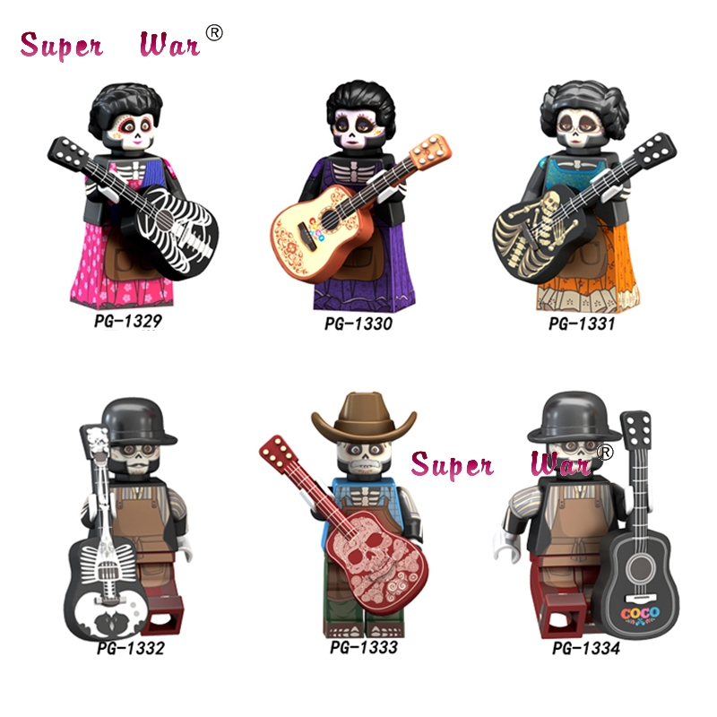 Single The Day Of The Dead Coco Rosita Imelda Victoria Halloween The Horror Theme Building Blocks Model Bricks Toys For Children