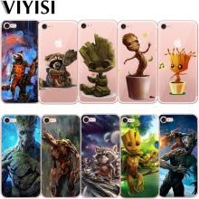 VIYISI Groot For Apple iPhone X Silicona Casos Para IPhone 7 8 6 6S Plus 5 5S SE Rocket Raccoon Etui Coque Fundas Capas Capinha