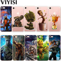 VIYISI Groot Para IPhone X de Apple Silicona Casos Para IPhone 7 7 6 6S Plus 5 5S SE Rocket Raccoon Etui Coque Fundas Capas tapa