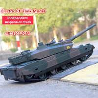 Новейшая перезаряжаемая электрическая радиоуправляемая модель танка, детская игрушка, XQTK24-2, 40 минут, 45 градусов, с уклоном, с дистанционным ...