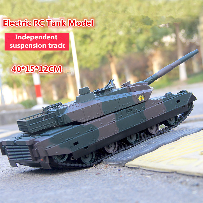 Newest recharge electric RC tank model kids toy XQTK24-2 40mins 45 degree slope off road remote cont army military tank toy