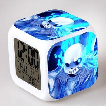 2017 Spiel Undertale Uhr LED Digital Wecker Farbe Reloj Despertador Saat  Horloge Digitale Thermometer Schlafzimmer