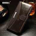 IDOOLS Note Edge Fashion Business Classic Flip Case for Samsung Galaxy Note Edge with metal Cover Wallet Stand with Card Holder