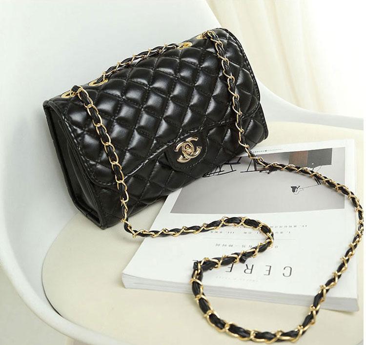 2017 Fashion famous brand Women Messenger bag Leather chains Shoulder Bag female Crossbody bag ladies clutch purses and handbags