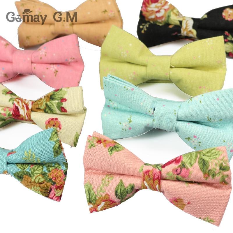 Nuevos Hombres de Lino Impreso Pajaritas Formal Moda Corbatas de lazo - Accesorios para la ropa