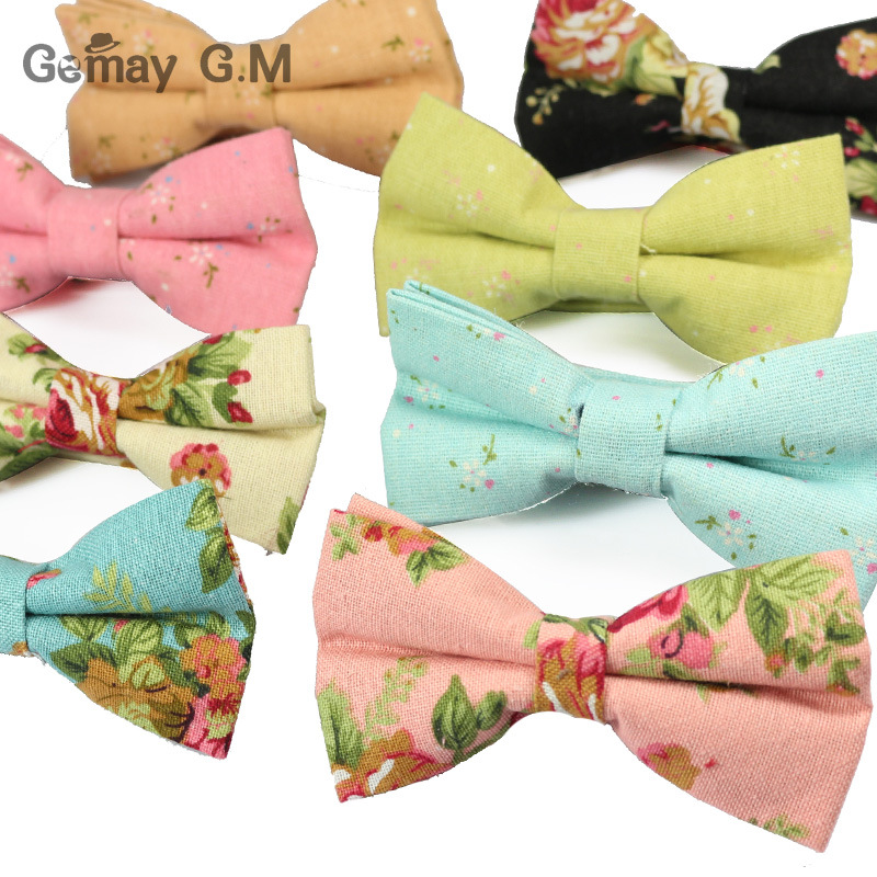 New Mens Linen Printed Formal Fashion Bow Ties Man Solid Neck Bowtie Bowknot Gravatas Necktie Butterfly