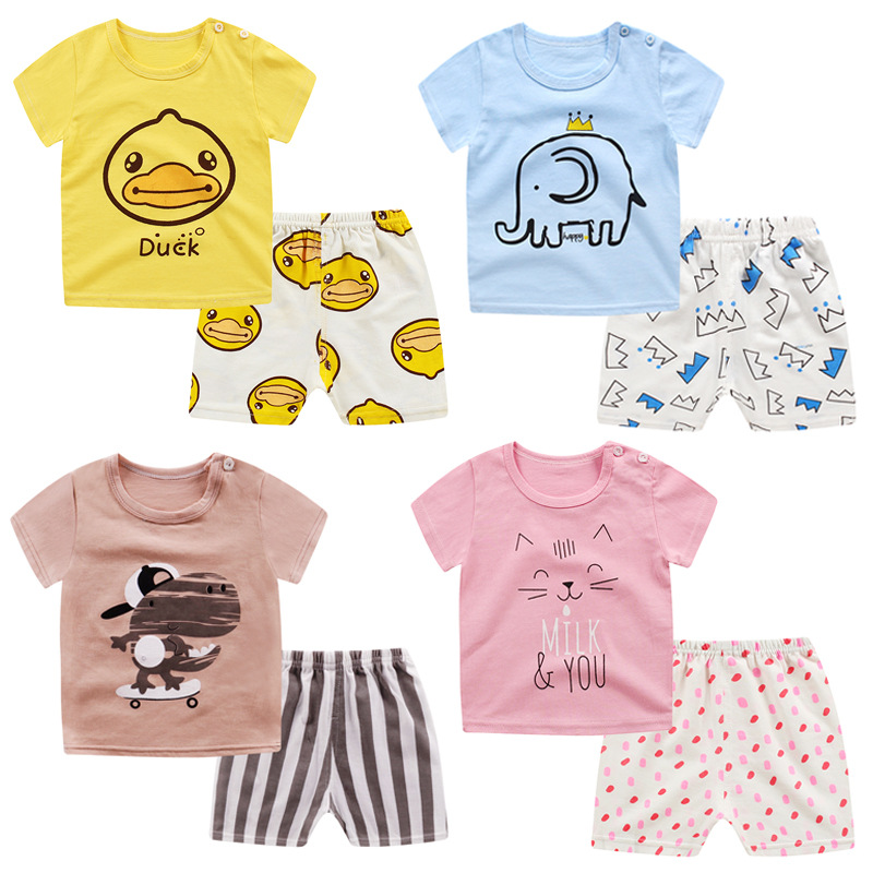 2019 Kids Pajamas Set Children Child Lady Boy Animal Cartoon Informal Clothes Costume Quick Sleeve Kids Sleepwear Pajamas Units Clothes Units, Low cost Clothes Units, 2019 Kids Pajamas Set...