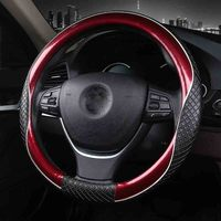 3D Sport Car Steering Wheel Covers Micro Fiber Leather Two Tone Steering Wheel Case Auto Interior Accessories Black Blue|Steering Covers|Automobiles & Motorcycles -