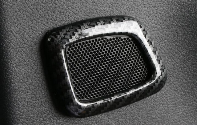 for <font><b>Jeep</b></font> <font><b>Compass</b></font> 2017 <font><b>2018</b></font> ABS Carbon fibre Car Back rear door inner speaker audio Horn frame cover trim Car styling Accessories image