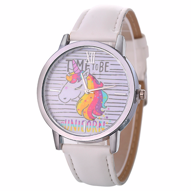Hot Style Children's Cartoon Unicorn Design Bracelet Watch Lady Belt Watch