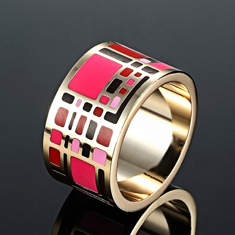 New Arrival Stainless Steel Rings for Women Wedding Jewelry Colorful Design Enamel Anel Aneis Jewelry Rings Trendy Party anillos