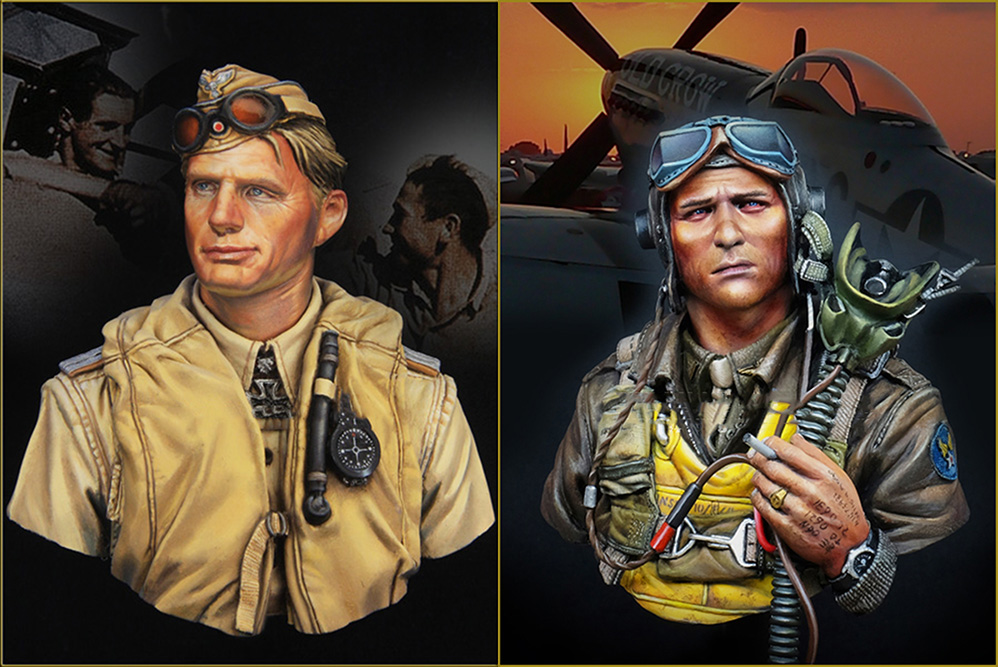 Assembly Unpainted Scale 1/10 FIGHTER PILOT 1944 bust include 2 Historical toy Resin Model Miniature Kit assembly unpainted scale 1 10 man of the african legion soldier bust figure historical wwii resin model free shipping