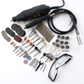 Electric Power Tools Mini Drill Rotary Tools accessories with 106pcs drill bits cutting discs sanding paper flex shaft