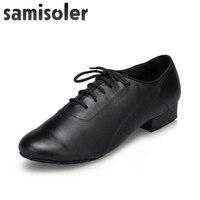Samisoler2019 New Hot Sale Modern Men's Ballroom Latin Tango Dance Shoes man Salsa heeled black dancing shoes