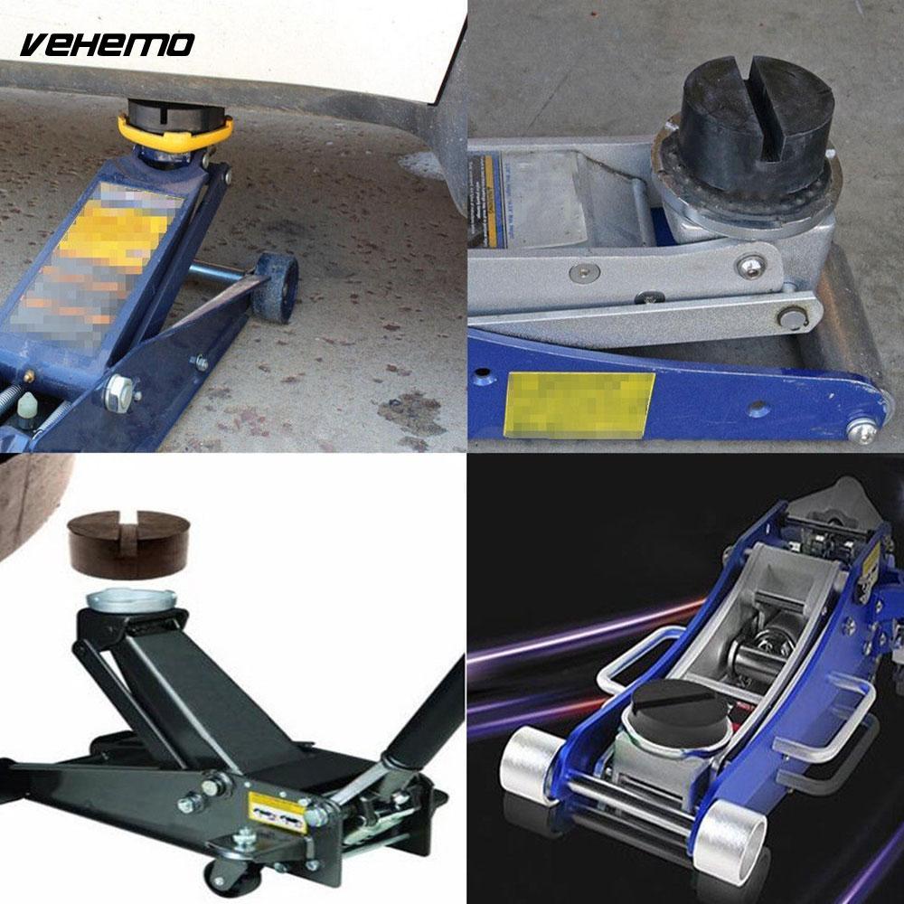 Vehemo Rubber Pad Car Vehicle Floor Jack Guard Adapter Repair Kit Black Universal