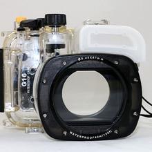 40 метров 130 футов подводный водонепроницаемый корпус Дайвинг камера Чехол сумка для Canon G16 камера