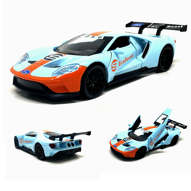High Simulation Ford GT Model,1:32 Scale Alloy Pull Back Car Model,3 Open Doors,sound Light Toy,Free Shipping,wholesale