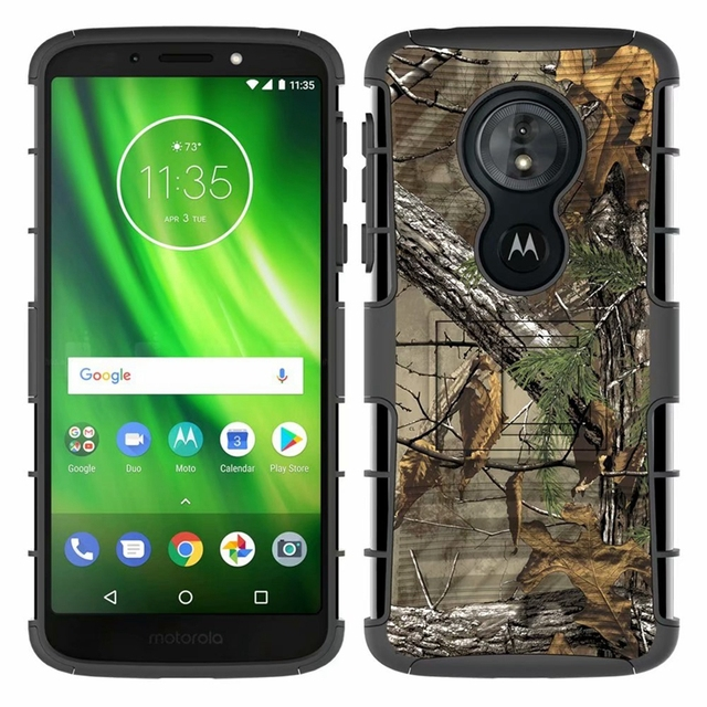 size 40 798db f0734 US $6.99 30% OFF|For Motorola Moto G6 Play / G6Play Hybrid Heavy Duty 3 in  1 Military Camo Hard Shockproof Case For G6Play Belt Clip Stand Cover-in ...