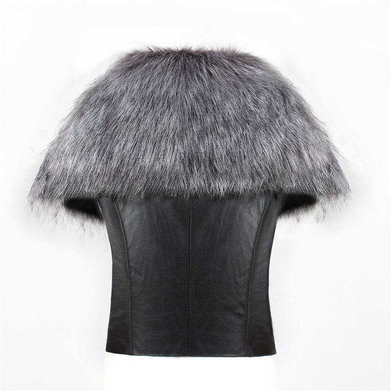 2018 spot fashion Europe and America party high-end fox fur faux fur vest elegant elegant fur (7)