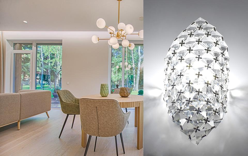 Acquista moderno lampadario di cristallo g applique da parete in