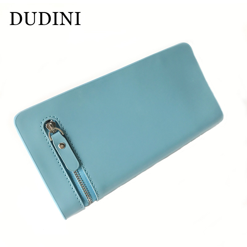 DUDINI  Women Fashion Leather Wallet Long Multifunction Phone Package Casual Zip Money Bag Lady Clutch Card Purse Coin Packet free shipping new fashion brand women s long wallet purse clutches lady money clip coin phone bag 100