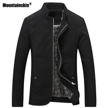 Mountainskin Men's Jackets Slim Fit Trench Casual Coats Spring Autumn Windbreaker Male Outerwear Mens Brand Clothing 5XL SA586