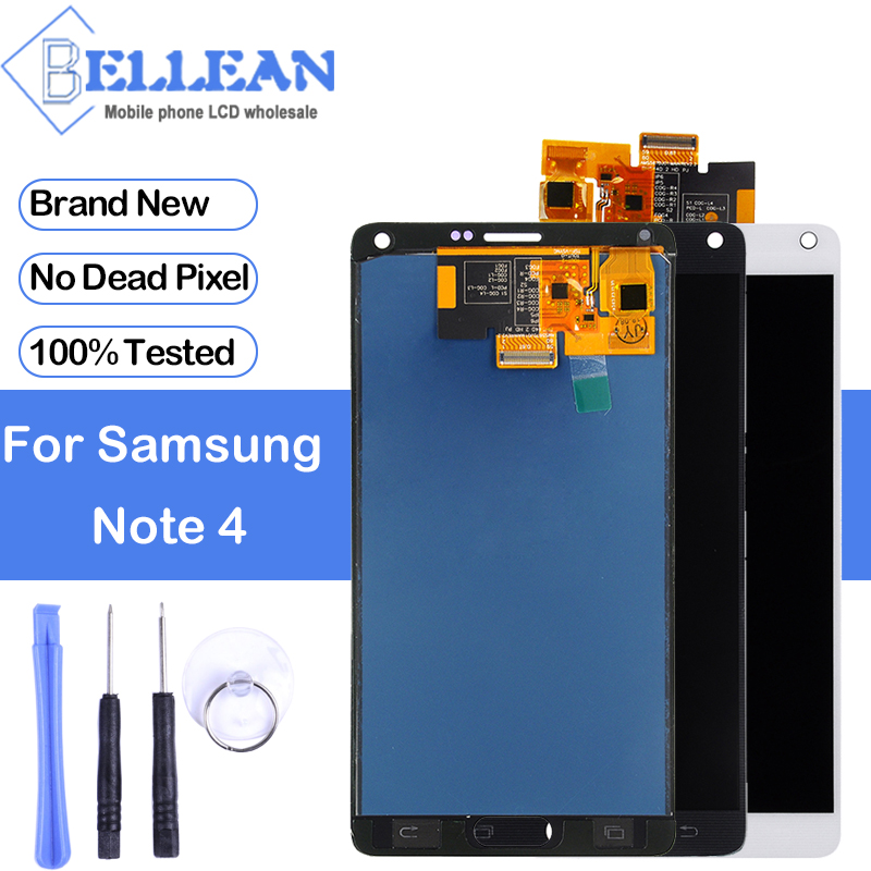 Dinamico N910 Lcd For Samsung Galaxy Note 4 Lcd N910T N910P N910A N910F N910M N910G Display With Touch Screen Digitizer Assembly