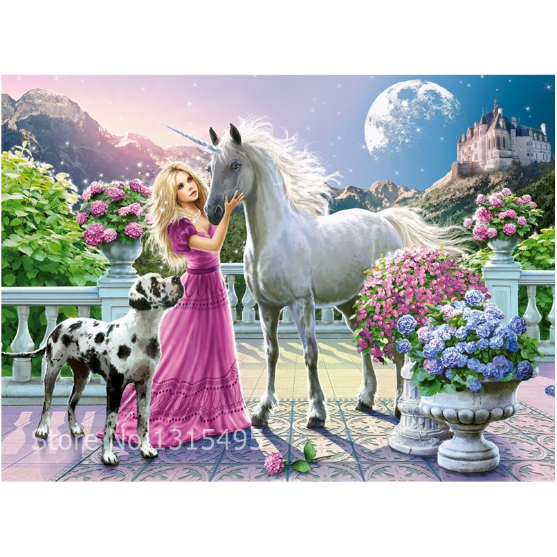 Beauty with horse diamond mosaic painting cross stitch animal embroidery diamond picture pastes wall sticker needlework art N035Beauty with horse diamond mosaic painting cross stitch animal embroidery diamond picture pastes wall sticker needlework art N035