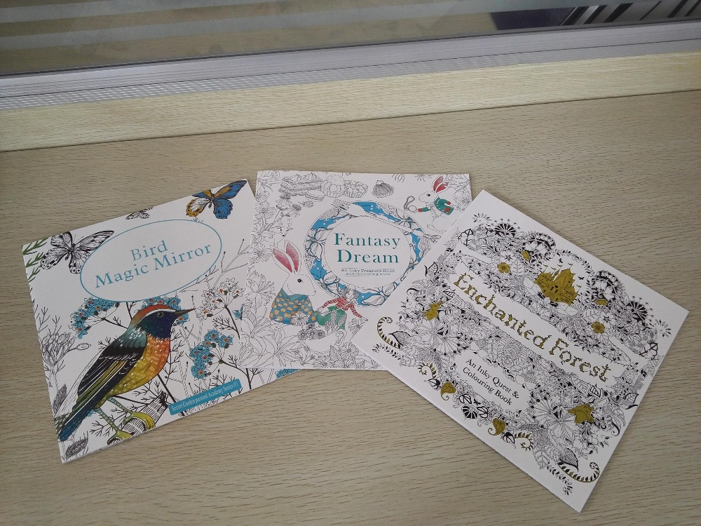 3PCS LOT 24 Pages English Edition Enchanted Forest Bird Magic Mirror Fantasy Dream Coloring Book Secret Garden In Books From Office School
