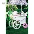 Laeacco Летний милый фон для фотосъемки с изображением мороженого  пирожных  конфет  бара  сцена для детской фотосъемки  стена для фотостудии