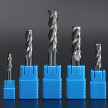 цены LIJUN 4mm 6mm 8mm 10mm 12mm HRC55 3 flutes Roughing End Mills Milling cutters CNC rough Tools Carbide router bits milling bits