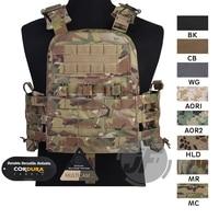 Emerson Navy CAGE Plate Carrier NCPC Vest EmersonGear Tactical MOLLE Adjustable Vest Doffing Versatile Armor Vest w/Cummerbund