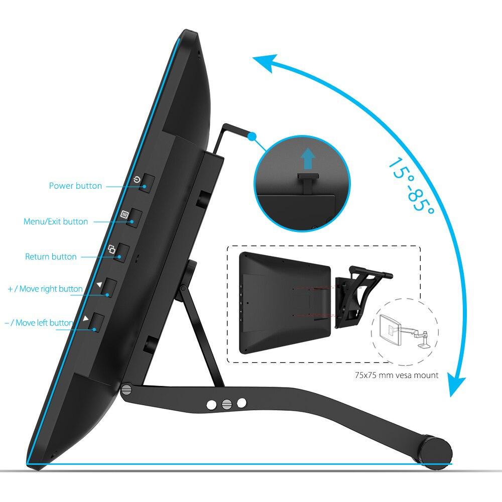 XP-Pen Artist16Pro dibujo tableta Monitor gráfico tableta Digital electrónica con teclas exprés y soporte ajustable - 4
