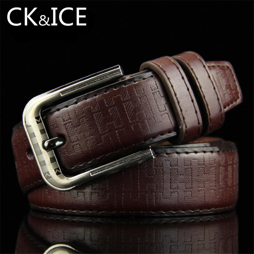 CK&ICE Fashion Belts For Men&women Faux Leather Belt Pattern Pin Buckle Printing Striped Cinto Masculino Men Women Casual Belt