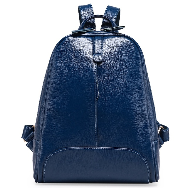 Genuine Leather Embossed Women's Backpack College Wind School Bag Large Capacity Female Women Travel Backpack For Teenager Girls