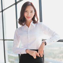 Women Blouse Long Sleeve Shirts Striped/Solid Color Ladies Office Shirts White Slim-fit Female Formal Social Blouses Tops Blusas