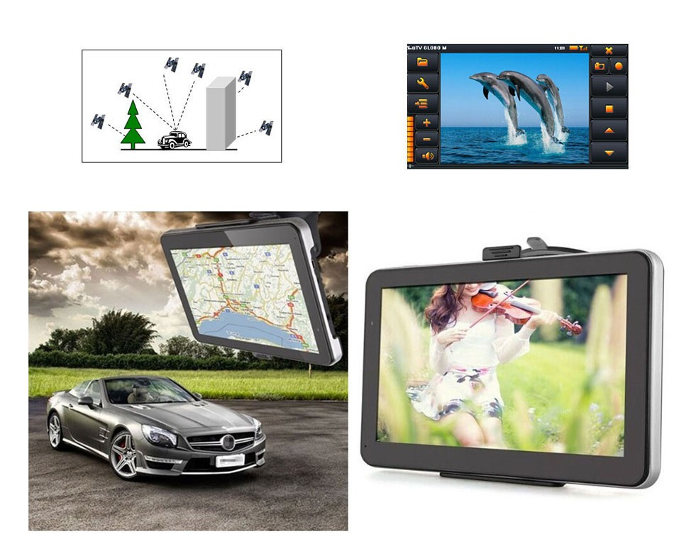 7 inch Touch Screen Car GPS Navigation 128MB RAM 4GB Portable Truck Navigator MP3 MP4 FM Video Play Vehicle GPS + Free Map -14