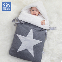 Newborn baby sleeping bag for stroller envelop for neonate infant wrapped baby cocoon winter sleepsacks super thicken
