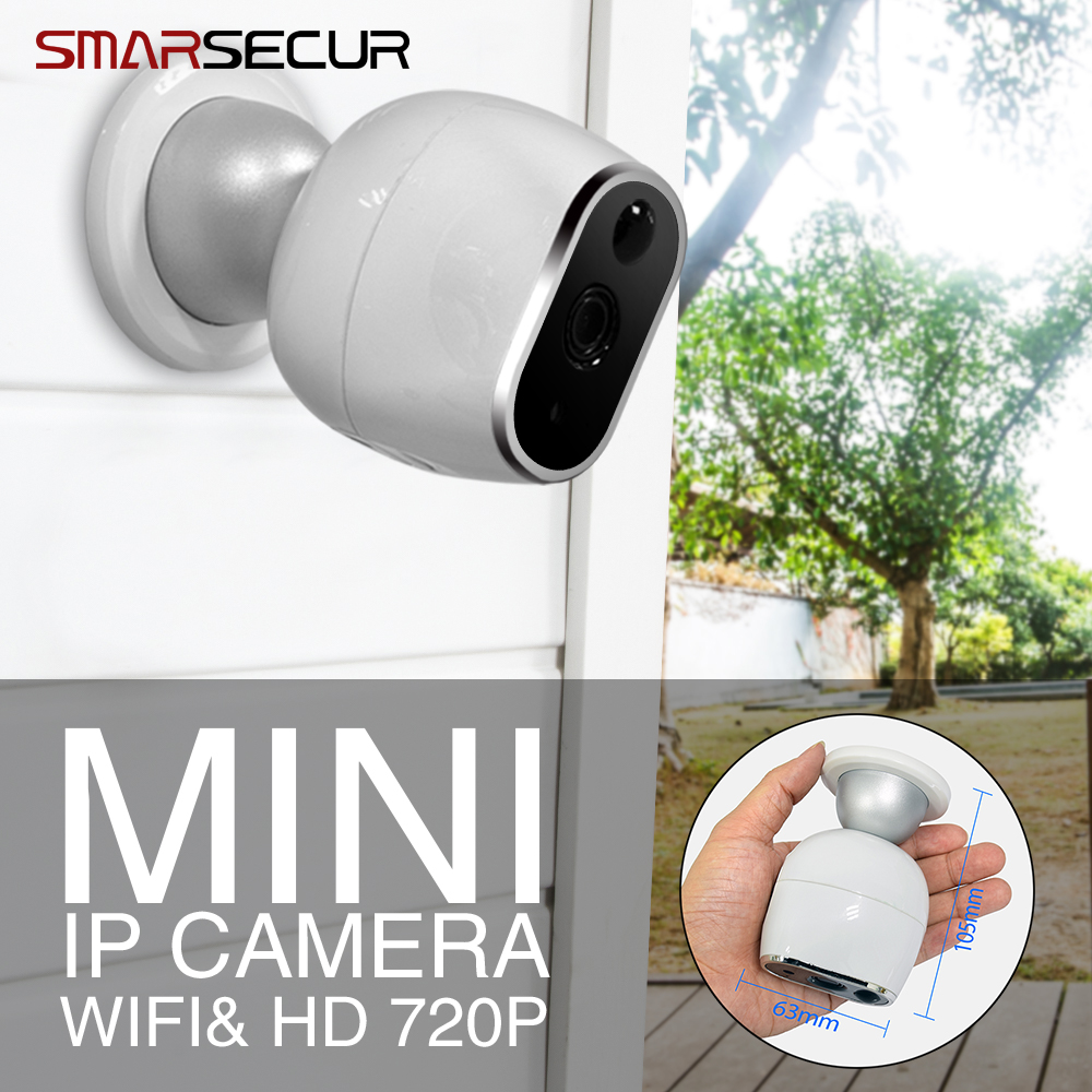 SMARSECUR IP Camera 720P HD WiFi Security Wireless IP Camera Mini Surveillance Cameras j47b as cameras do ip de hd apoiam hd 720p 1280 720 deteccao de movimento mascara da privacidade camera bala