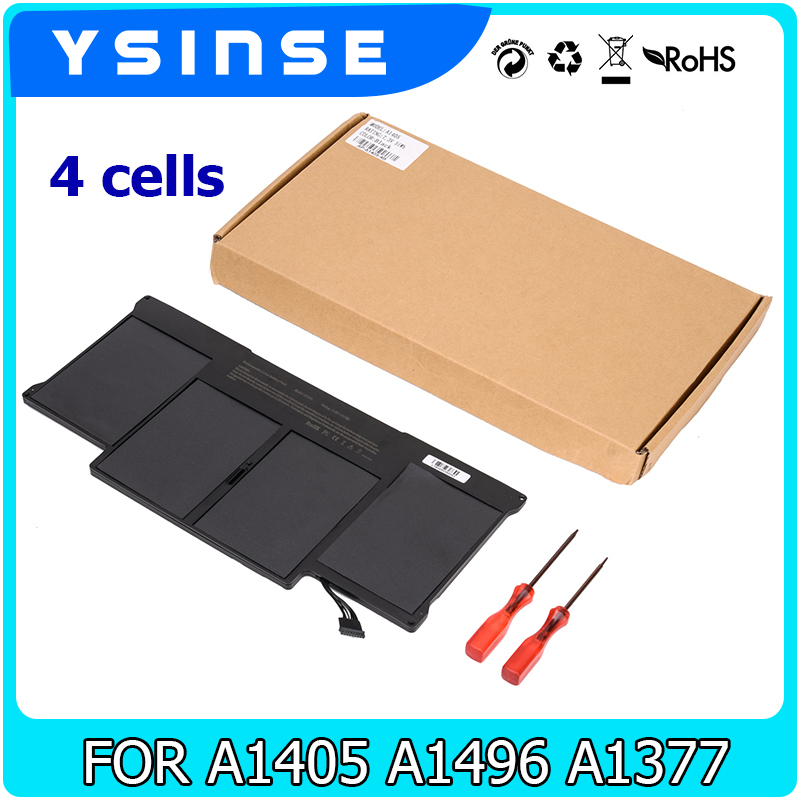 YSINSE 7.6V 55WH Laptop Battery For Apple Macbook Air Black A1377 A1496 A1405 13 A1466 2012 A1369 2010 13.3 MD760 MD761 ноутбук apple macbook air 13 128gb md760 11