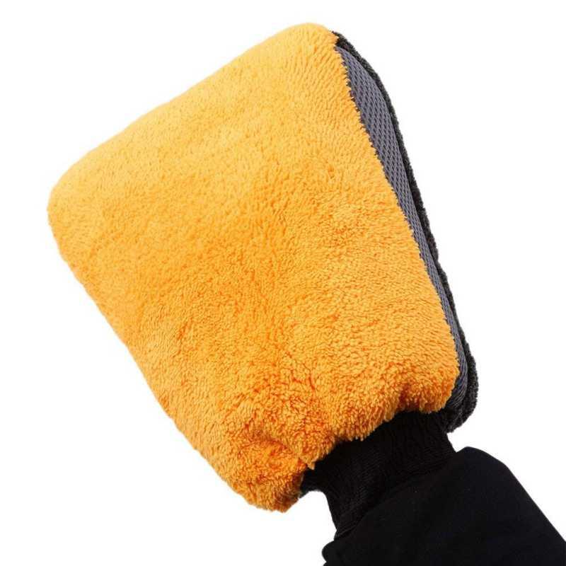 Guantes para hogar lana coral de lavado esponja limpieza automóviles terciop G2