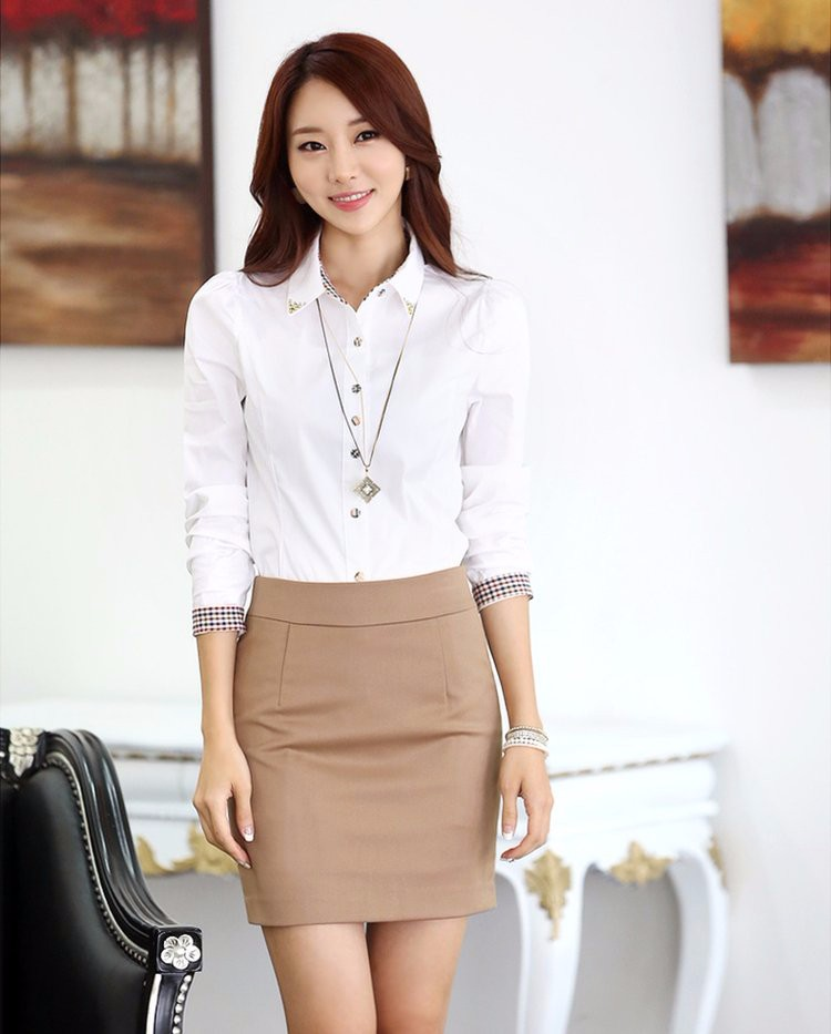 HTB1rfsyLXXXXXbVXFXXq6xXFXXXs - Casual Blouse Long Sleeve Femininas Ladies Work Wear Tops Shirt