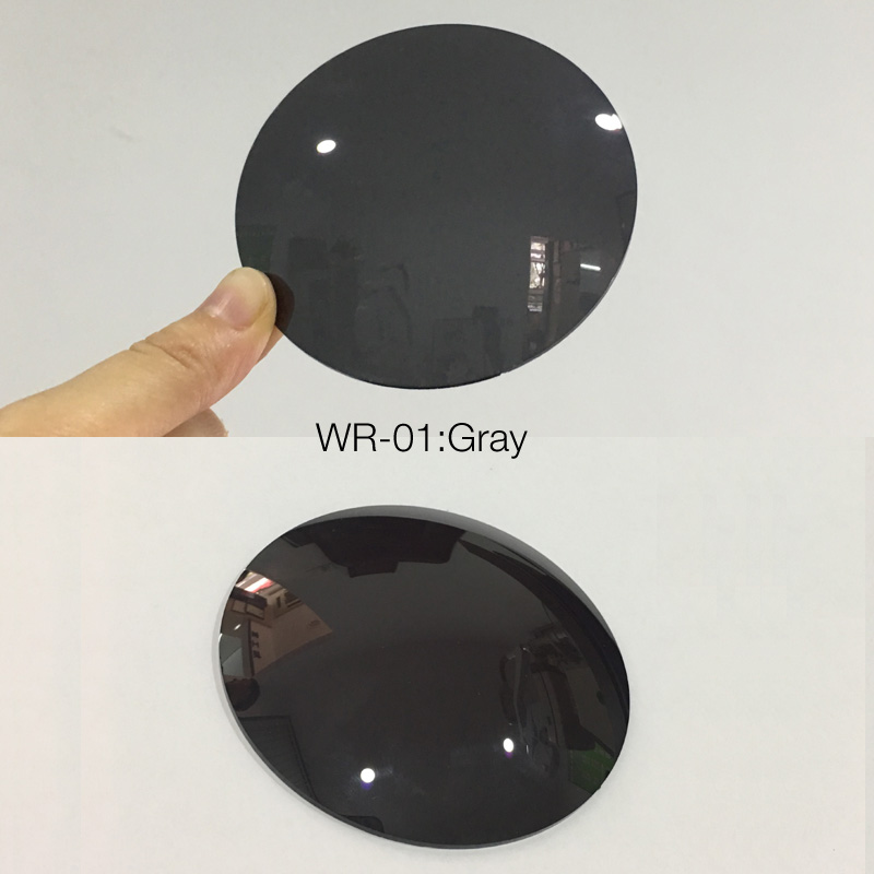 MUZZ 1.56 Index Mirror Colorful Myopia Eyeglasses Lenses 1.61 Index Prescription Lens CR-39 UV Protection Sun Glasses Lens 2PCS