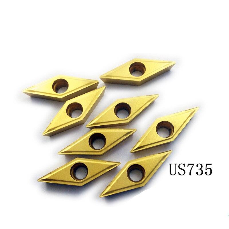 Original Quality Grade Carbide CNC Blade VCMT110304/VCMT110308 VP15TF/US735/UE6020 SVJCR SVVCN SVQCR SVUCR Series Lathe Tool