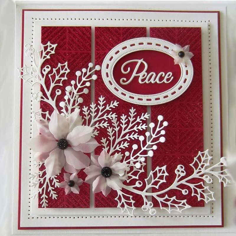 50*104mm Flowers Leaves Dies Scrapbooking Metal Cutting Dies For Diy Photo Album Decorative Paper Cards Making Craft Ies Metal
